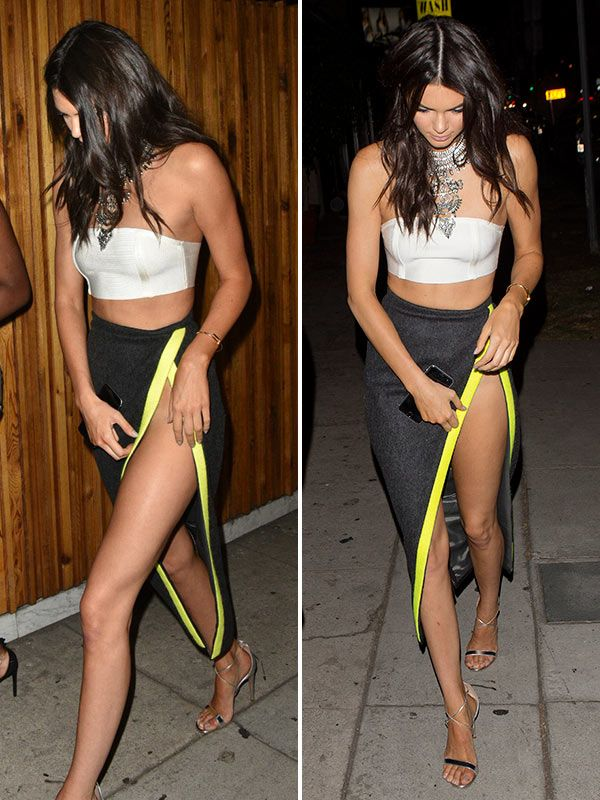 Kendall Jenner Risks Wardrobe Malfunction With Racy High ...