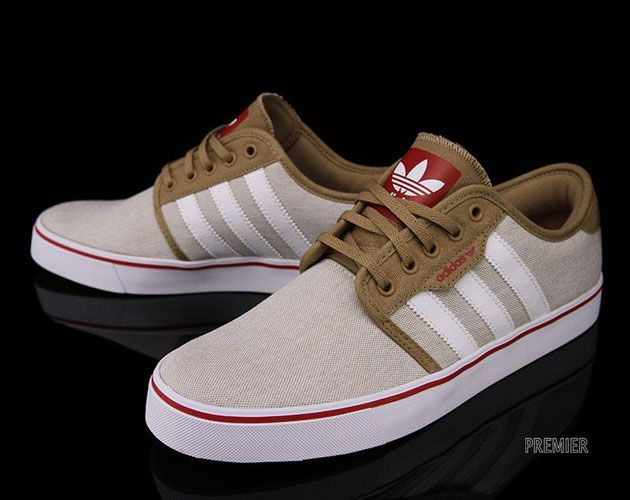 Adidas Skateboarding Seeley Craft Canvas White University Red sneakers kicks