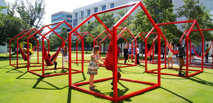 Mi Casa-Your Casa, by mexican designers Héctor Esrawe and Ignacio Cadena. Site-specific installation that will invite the community to actively participate in the life of the entire Woodruff Arts Center campus of the High Museum of Art Atlanta.
