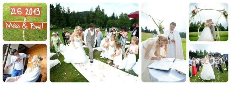 our newlyweds! :-) rustical wedding in Czech