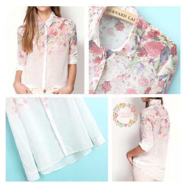 Blusa Floral $12.900.  Tallas S, M y L.