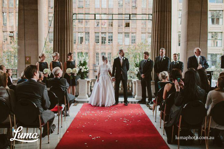 Wedding Hall Ceremony: Amazing Wedding Photo From Anna & Paul's Ceremony On