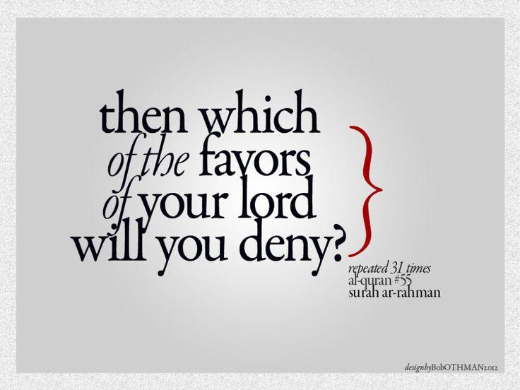 Favors of Allah