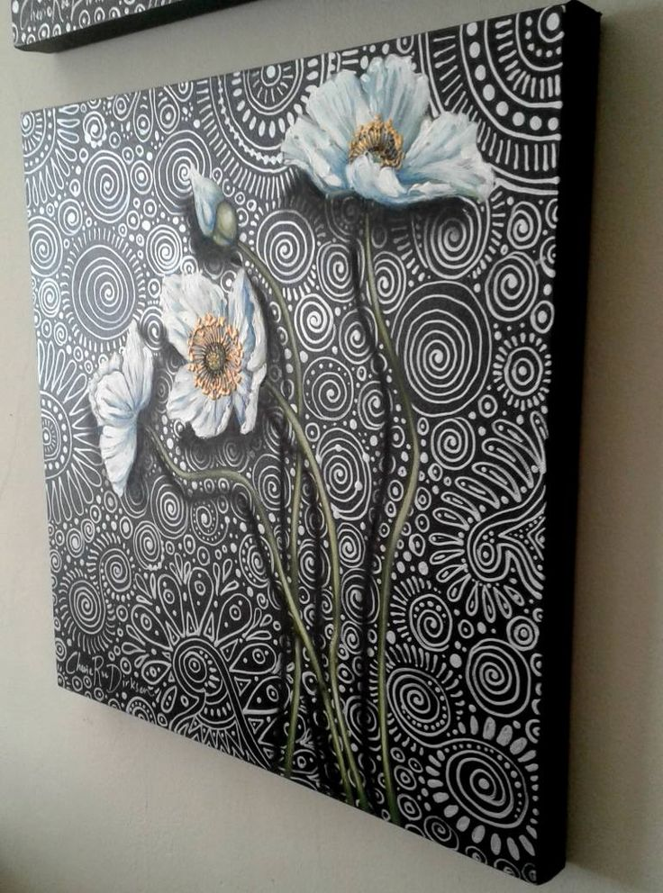 'White Poppies 1' by Cherie Roe Dirksen. Available through #Saatchi online for $405 (incl. shipping!)  #poppy #flowers #white #painting #homedecor #art