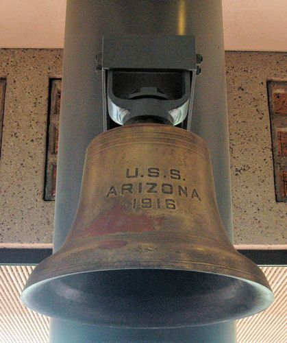USS Arizona Memorial and Pearl Harbor Visitor Center Photos: USS Arizona Bell at the Former USS Arizona Memorial Visitor Center