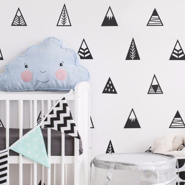 Mountains Wall Stickers - Wall Decals Cute Mountain Art Decor
