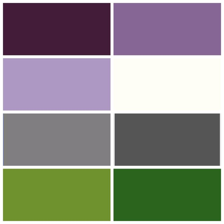 Wedding Color Scheme 1 Left Row Down Plum Lavender