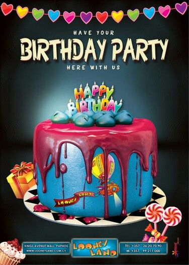 Birthday Party Graphic Design