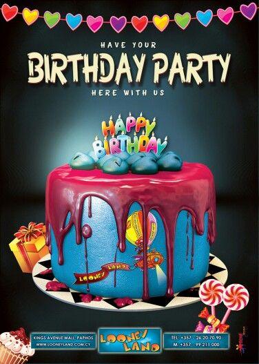 Birthday Party Graphic Design