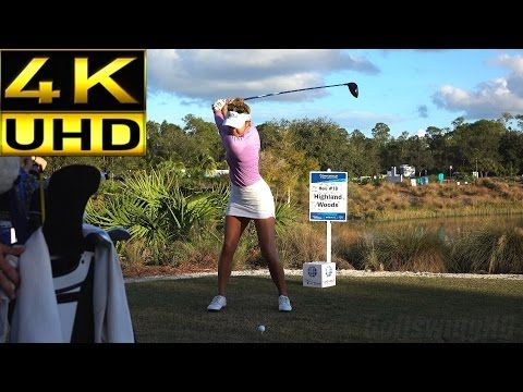 JUSTIN THOMAS 120fps SLOW MOTION FACE ON DRIVER GOLF SWING - YouTube