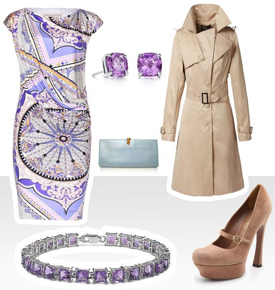 It's about amethyst and silk.
