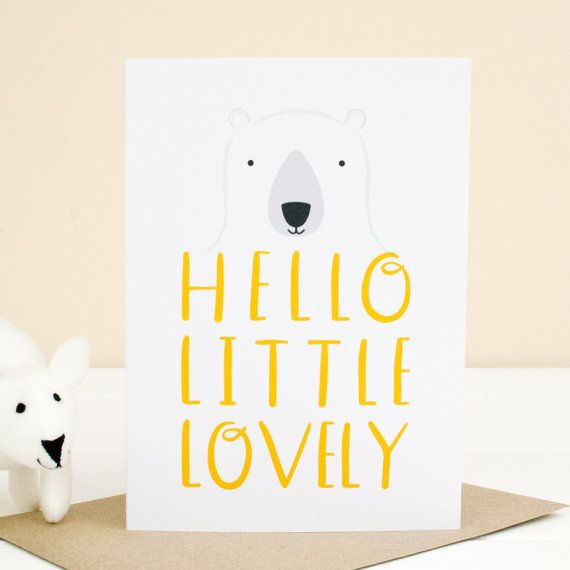 New Baby Card. Baby Girl. Baby Boy. Welcome to the by JoanneHawker