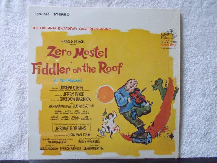 On Sale! Fiddler On The Roof The Original Broadway Cast