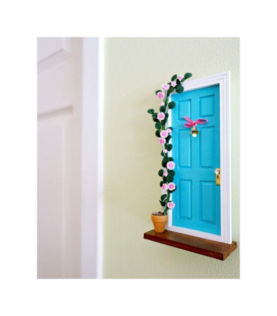 Porte pour fée bleue, rosier grimpant, Fée bleue, Fée des dents, Cadeau petite fille, 5 ans, Porte de fée, Poussière de fée, miniature, fées