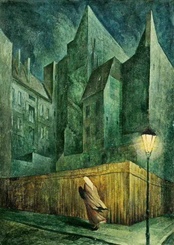 Die letzten Häuser / The last houses, 1922, Albert Birkle. (1900 - 1986)