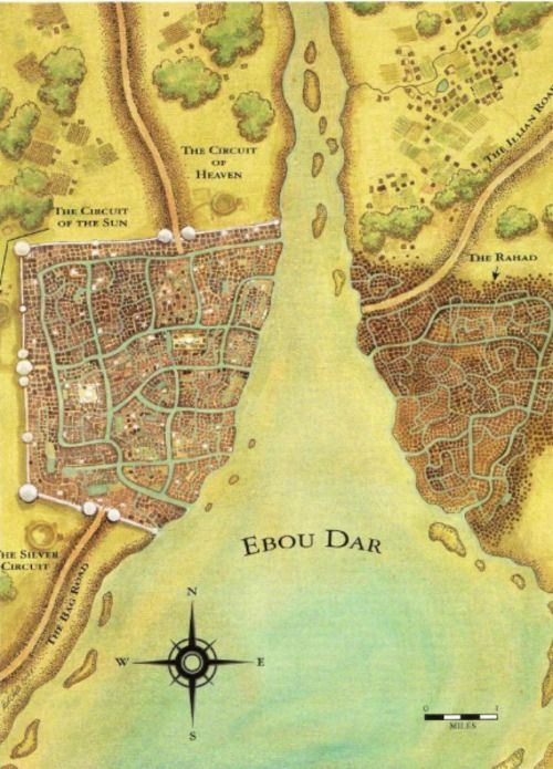 Ebou Dar, capital of Altara, from Robert Jordan's Wheel of Time series