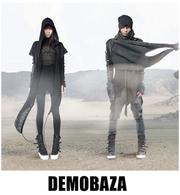 Deconstructed statement pieces are key to the Demobaza uniform, lending an understated, minimal edge to your urban wardrobe.