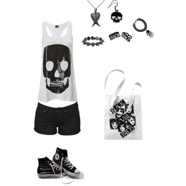"""rocker chick"" by foreverbroken on Polyvore"