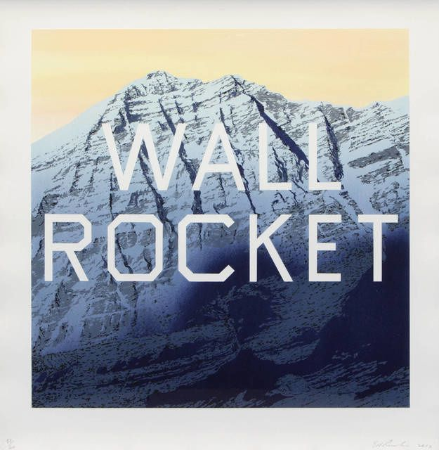 Ed Ruscha | Wall Rocket (2013) | Available for Sale | Artsy