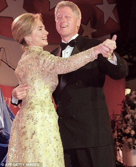 President Bill Clinton and First Lady Hillary