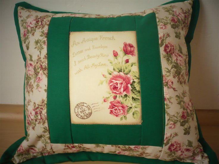 pillow with roses - polštář s růžemi