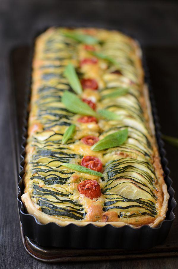 Zucchini, Feta and Chives Pie