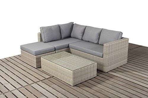 West Country Rattan Garden Small Corner Sofa consists of two modular two seater sofas, a footstool and a coffee table Outdoor Garden Furniture https://www.uk-rattanfurniture.com/product/isabel-table-chair-set-in-dark-brown/