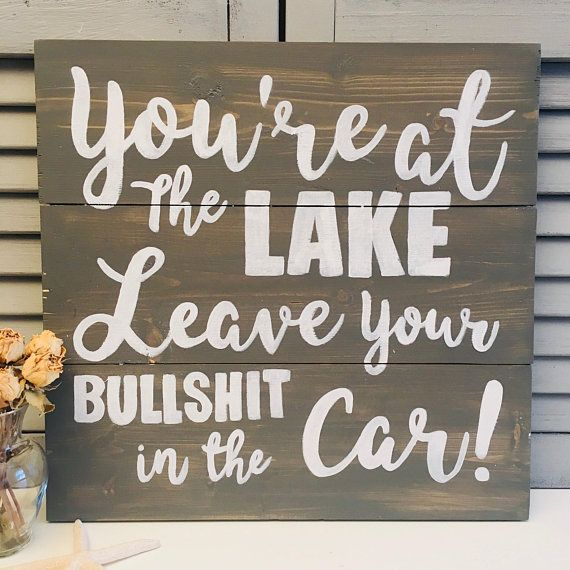 Rustic Lake House Sign Personalized Lake Rules Wall Hanging Vacation Home Decor Welcome To The Lake Lake House Lake House Signs Rustic Lake Houses Lake House