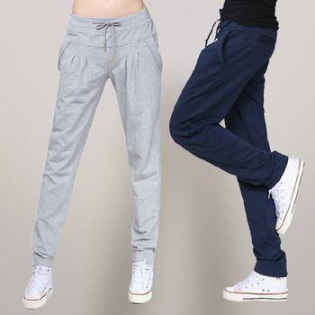 dans hip hop pantolon harem pamuk büyük boy gevşek uzun koşu pantolon spor pantolon kadın sweatpant spor kıyafetleri XXL XXXL
