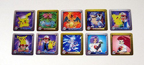 1999 Artbox Pokemon Series One 3-D Flipz Chase Card Set (10) Nm/Mt