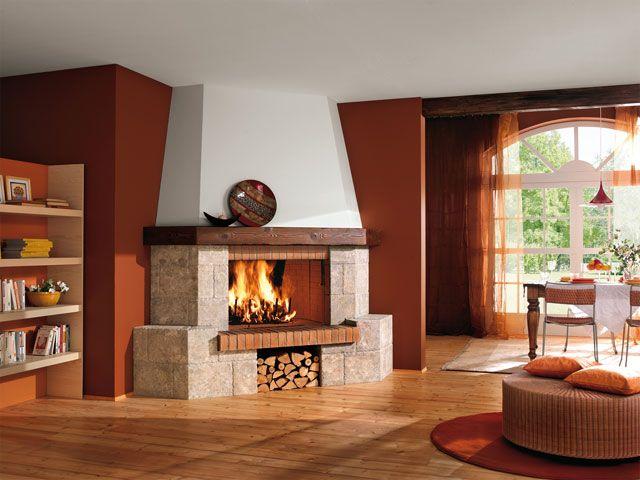 Угловые камины в дизайне интерьера начали устанавливаться с появлением стиля «минимализм», после чего популярность этой дизайнерской идеи начала стремительно набирать обороты.