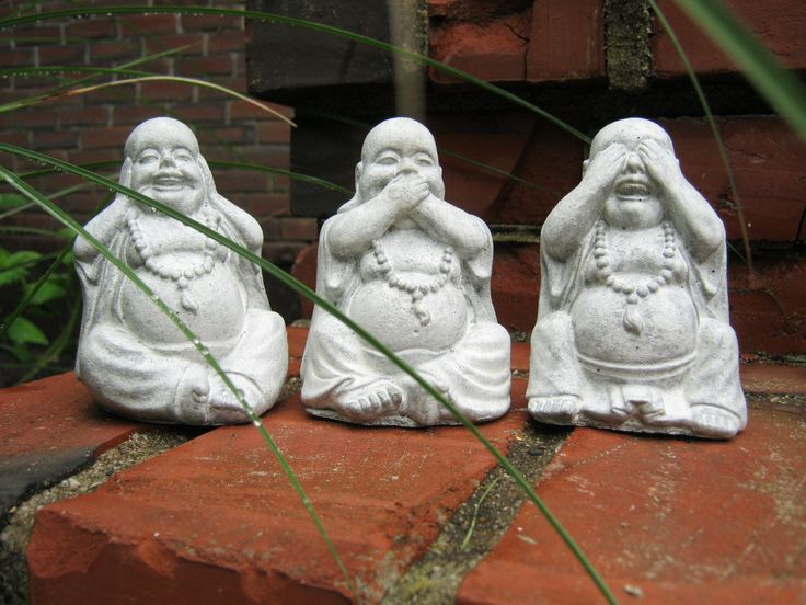 Buddha Statues Three Laughing Buddha Figures by WestWindHomeGarden, $29.95