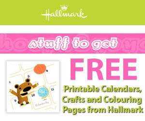 Print free calendars, colouring pages and office stuff from the Hallmark website.