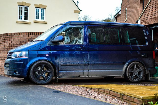 A rendering of our VW T 5.1 California lowered on B14 coil over suspension.....
