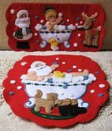 Molde Juego de baño Papa Noel en la tina