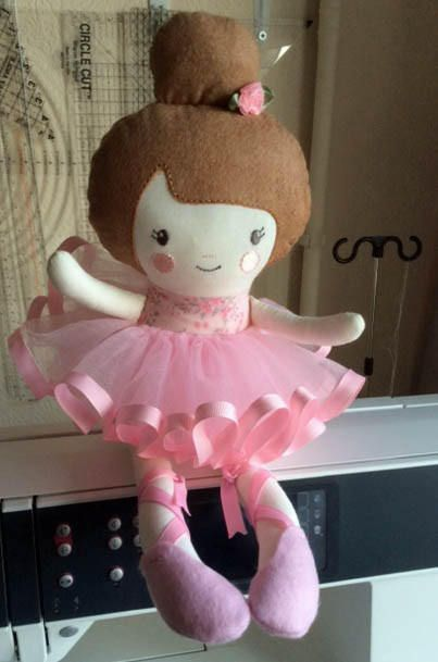 Bella ballerina, in the hoop design from Dolls and Daydreams, brilliant instructions, will definitely be making more o these.