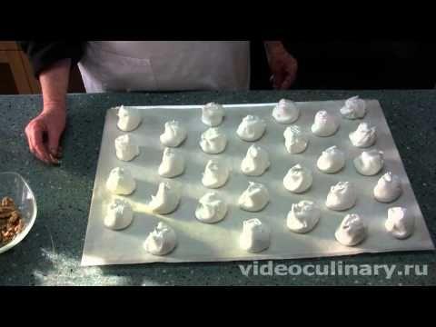 Рецепт - Пирожное безе с кремом от видеокулинария.рф