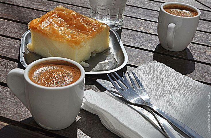 Greek Coffee with Galaktoboureko