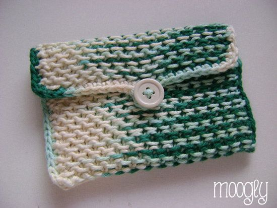 Free Knitting Pattern - Bags, Purses & Totes: Chinese Waves Pouch