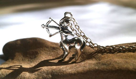 Sagittarius Zodiac Pendant Sterling Silver Pendant