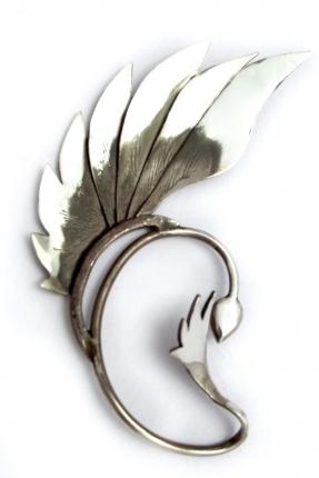 Hand-crafted Sterling silver ear piece.Duncansteven, Silver Ears, Body Piercing, Epic Style, Ear Cuffs, Ears Piece, Accessories, Earrings, Ears Cuffs