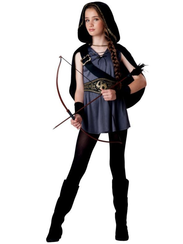 hooded huntress tween girls costume - Ideas For Girl Halloween Costumes