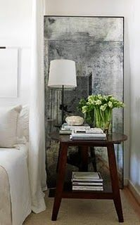 how to make an antiqued mirror!
