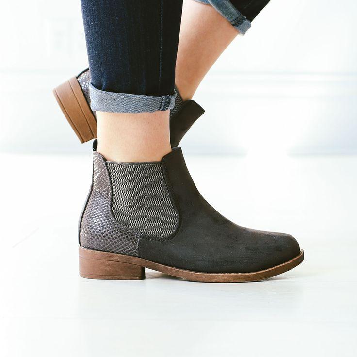 Jasper Short Boots - Grey