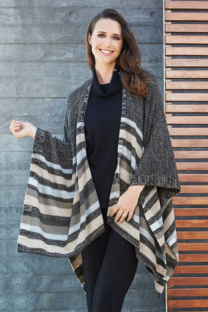 PONCHO WRAP Wraps are a key layering piece this season so embrace the trend with this effortless style. This lightweight wrap is best worn over simple separates & features an open lapel with a longline fit.