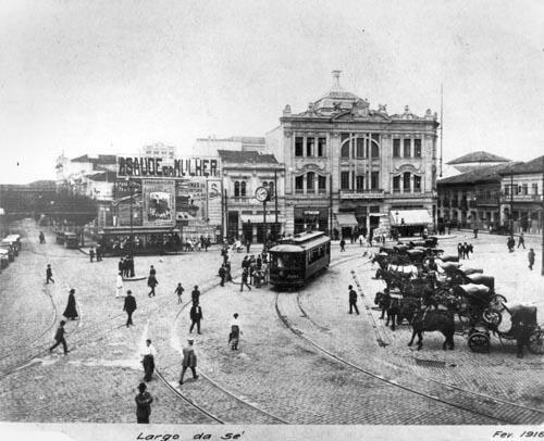 Praça da Sé, 1916. Fonte: Museu da Enrgia