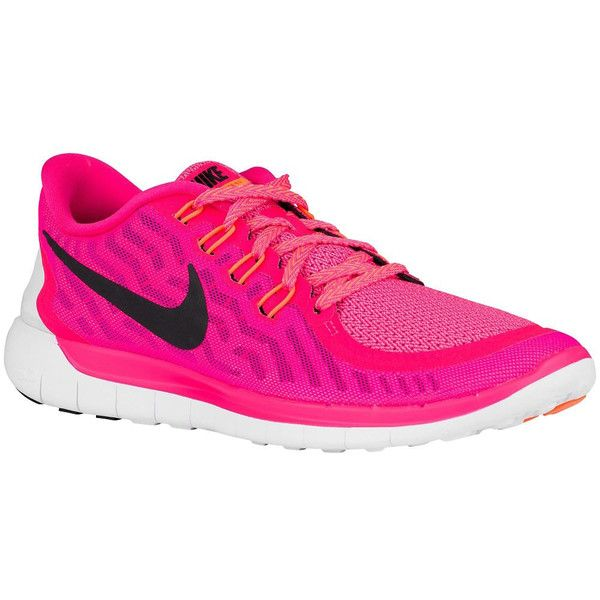 New Nike   5.0 2015 Running Shoes Pink Foil Pink Pow Bright Citrus... (710 BRL) ❤ liked on Polyvore featuring shoes, athletic shoes, black, sneakers & athletic shoes, tie sneakers, women's shoes, bright colored running shoes, clear shoes, embellished shoes and black tie shoes