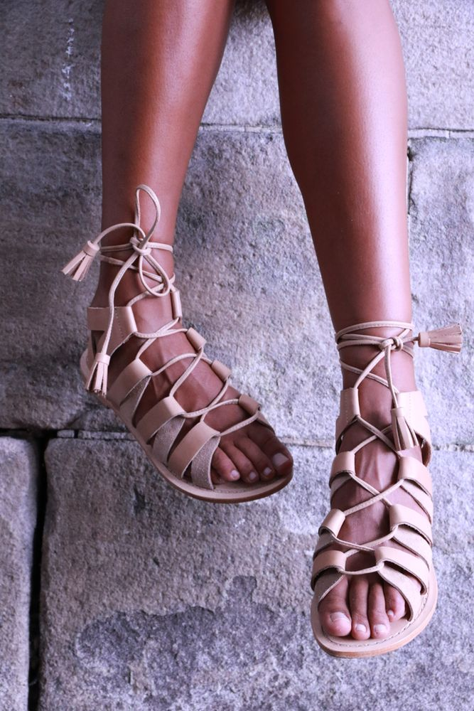 Image of Nude Gladiator Sandal