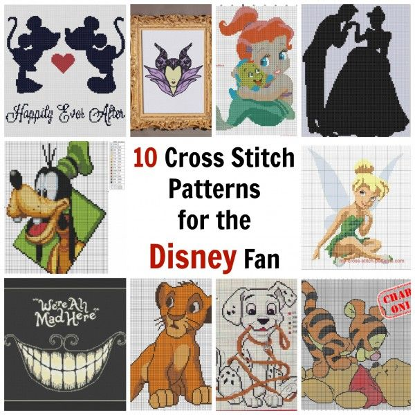 10 Cross Stitch Patterns for the Disney Fan