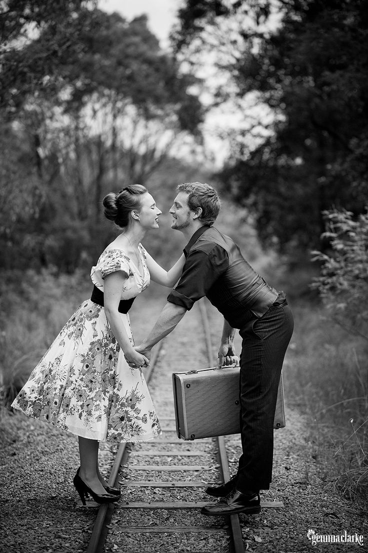 Camille and Sean's Portraits with 1950s flair!